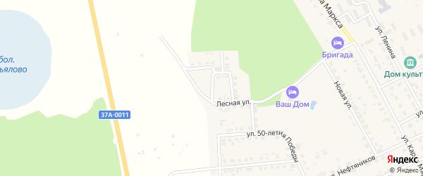 Солнечный переулок на карте поселка Нового Мира Курганской области с номерами домов