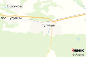 Карта пгт Тугулым Свердловская область