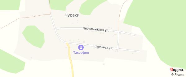 Пионерская улица на карте деревни Чураки Свердловской области с номерами домов