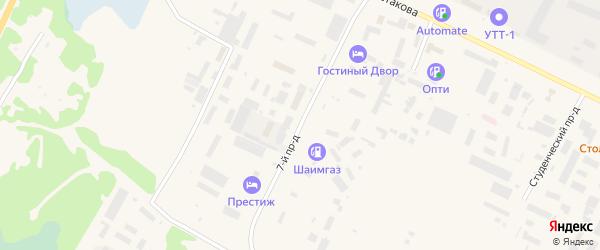 Улица 7-й подъезд 59 на карте Урая с номерами домов