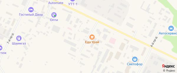 Проезд Студенческий подъезд 23 на карте Урая с номерами домов