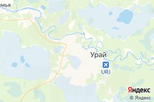 Карта г. Урай Ханты-Мансийский автономный округ-Югра