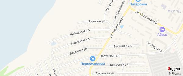 Березовая улица на карте Урая с номерами домов