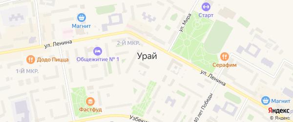 Животноводческий проезд на карте Урая с номерами домов