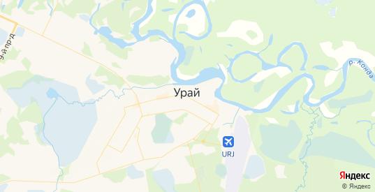Карта Урая с улицами и домами подробная. Показать со спутника номера домов онлайн