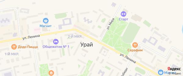 Улица Л.И.Либова на карте Урая с номерами домов