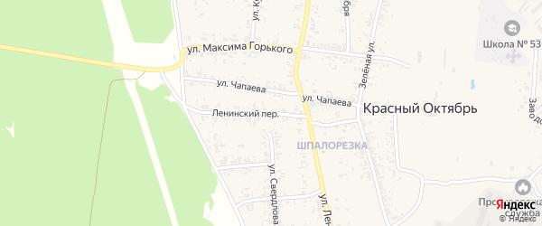 Ленинский переулок на карте поселка Красного Октября Курганской области с номерами домов