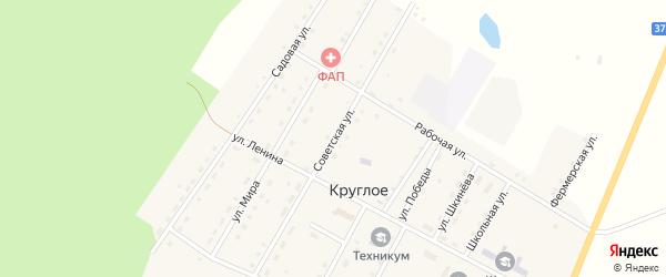Советская улица на карте Круглого села Курганской области с номерами домов