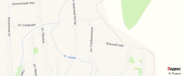 Улица Николая Слобожанина на карте поселка Заводоуспенского Свердловской области с номерами домов