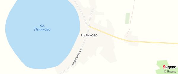 Карта села Пьянково в Курганской области с улицами и номерами домов