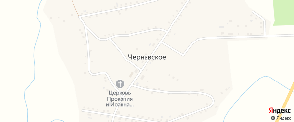Улица Беспалова на карте Чернавского села Курганской области с номерами домов