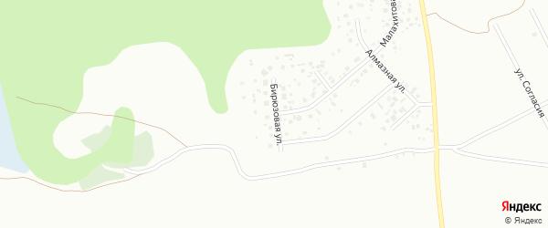 Бирюзовая улица на карте микрорайона Зайково с номерами домов