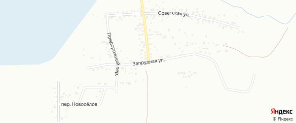 Запрудная улица на карте микрорайона Зайково с номерами домов