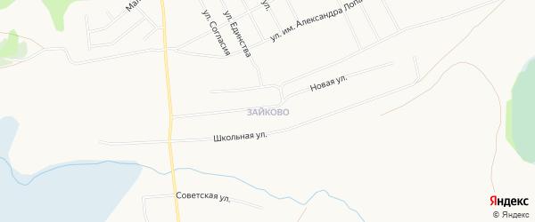 Микрорайон Зайково на карте Кургана с номерами домов