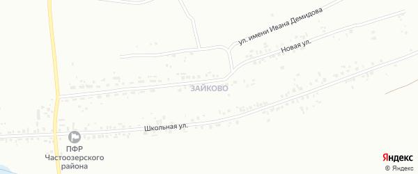 1-я Коралловая улица на карте Зайково с номерами домов