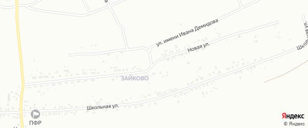 Новая улица на карте микрорайона Зайково с номерами домов