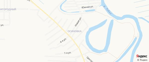 Микрорайон Осиновка на карте Кургана с номерами домов