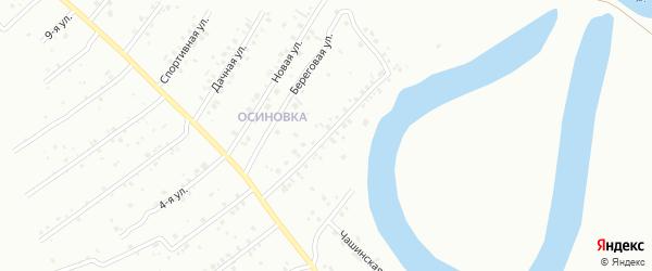 Береговая улица на карте территории СНТ Дрожжевик с номерами домов