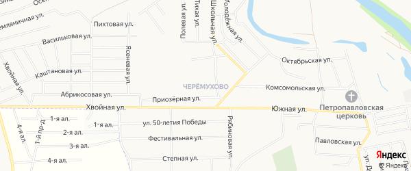 Микрорайон Черёмухово на карте Кургана с номерами домов
