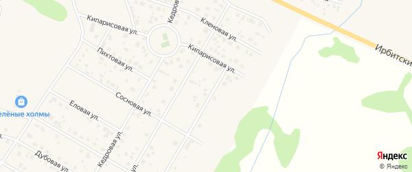 3 ая Березовая улица на карте села Кулаково Тюменской области с номерами домов