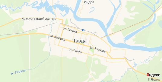 Карта Тавды с улицами и домами подробная. Показать со спутника номера домов онлайн