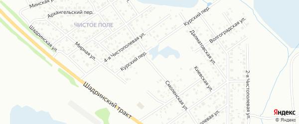 Смоленская улица на карте территории Чистого поле поселка с номерами домов