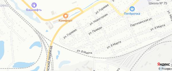 Западный переулок на карте Кургана с номерами домов