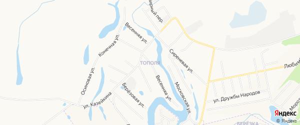 Микрорайон Тополя на карте Кургана с номерами домов