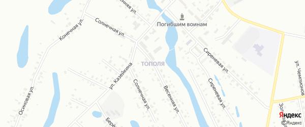 Улица Владимира Анатольевича Менщикова на карте микрорайона Тополя с номерами домов