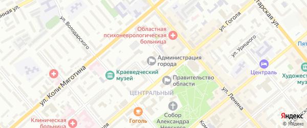 Улица 9-я Чехова на карте территории СНТ Локомотива с номерами домов