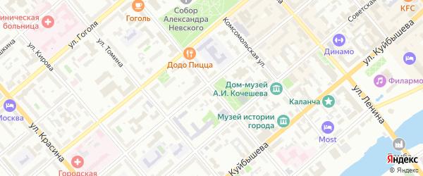 Улица Володарского на карте Кургана с номерами домов