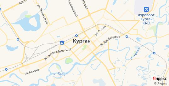 Карта Кургана с улицами и домами подробная. Показать со спутника номера домов онлайн
