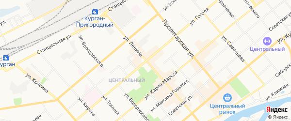 Карта населенного пункта 1 Отделение откормсовхозы города Кургана в Курганской области с улицами и номерами домов