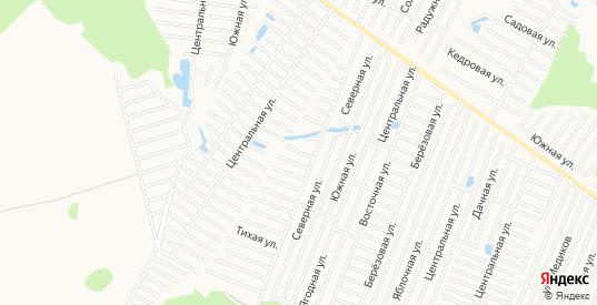 Карта садового некоммерческого товарищества Поляна в Тюмени с улицами, домами и почтовыми отделениями со спутника онлайн