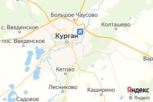 Карта г. Курган Курганская область