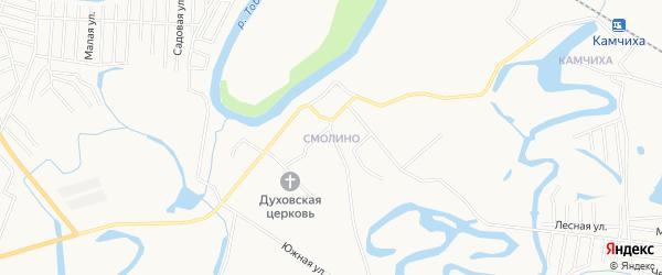 Карта поселка Смолина города Кургана в Курганской области с улицами и номерами домов