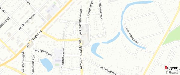 Почтовая улица на карте Кургана с номерами домов