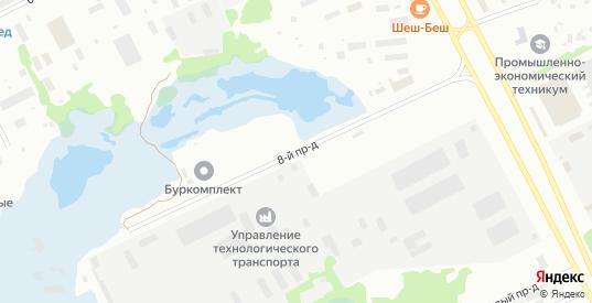 8-й проезд в Нягани с номерами домов на карте. Спутник и схема онлайн