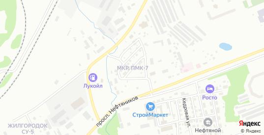 Городок КРС в Нягани с номерами домов на карте. Спутник и схема онлайн