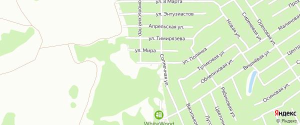 Каштановая улица на карте Тюмени с номерами домов