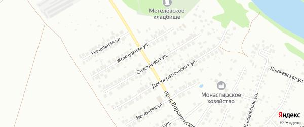 Счастливая улица на карте Тюмени с номерами домов