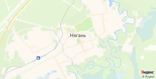 Карта Нягани с улицами и домами подробная. Показать со спутника номера домов онлайн