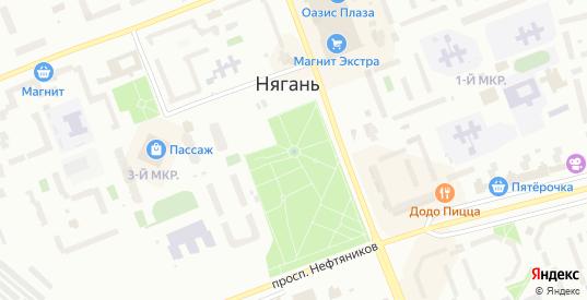 Физкультурная улица в Нягани с номерами домов на карте. Спутник и схема онлайн