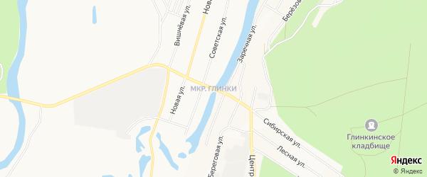 Микрорайон Глинки на карте Кургана с номерами домов