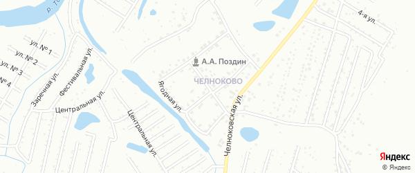Ямская улица на карте микрорайона Челноково с номерами домов
