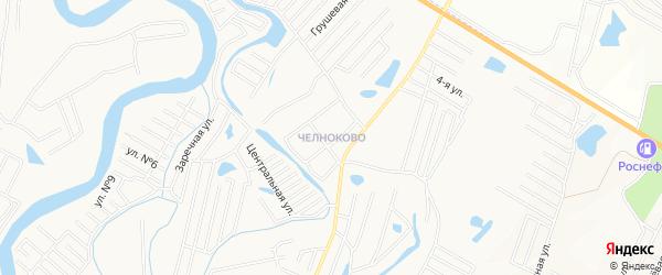 Микрорайон Челноково на карте Кургана с номерами домов