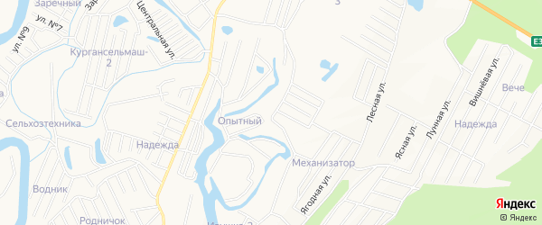 Микрорайон Храпово на карте Кургана с номерами домов