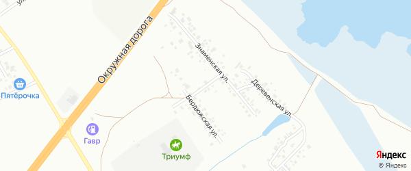Бердюжский переулок на карте Тюмени с номерами домов