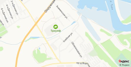 Карта деревни Воронина в Тюмени с улицами, домами и почтовыми отделениями со спутника онлайн