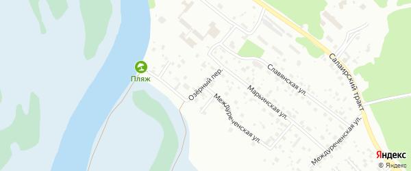 Озерный переулок на карте Тюмени с номерами домов